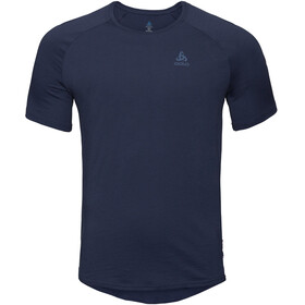 Odlo BL Ceramiwool SS Top Crew Neck Men diving navy